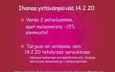 Ystävänpäivänä 14.2.20